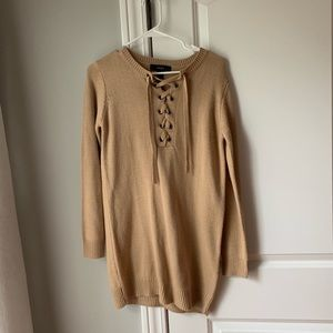 NEW taupe sweater dress
